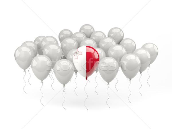 Lucht ballonnen vlag Malta geïsoleerd witte Stockfoto © MikhailMishchenko