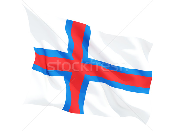 Waving flag of faroe islands Stock photo © MikhailMishchenko