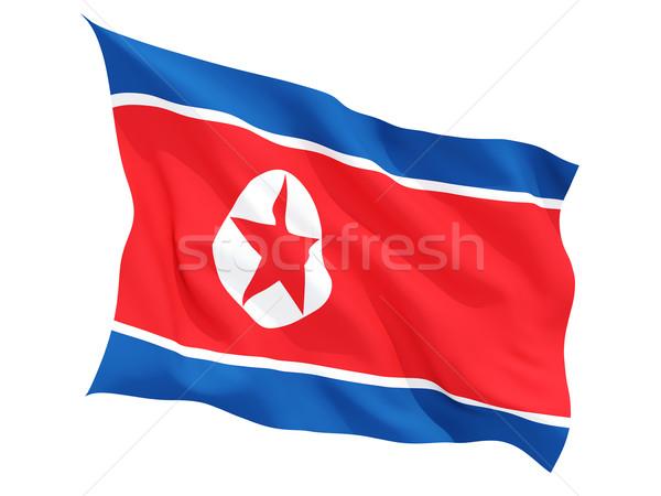 Waving flag of north korea Stock photo © MikhailMishchenko