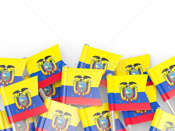 Flag pin of ecuador Stock photo © MikhailMishchenko
