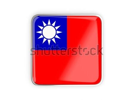 Foto stock: Cuadrados · icono · bandera · república · China · metal