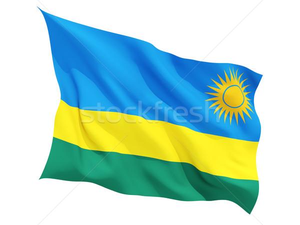 Pavillon Rwanda isolé blanche Voyage Photo stock © MikhailMishchenko