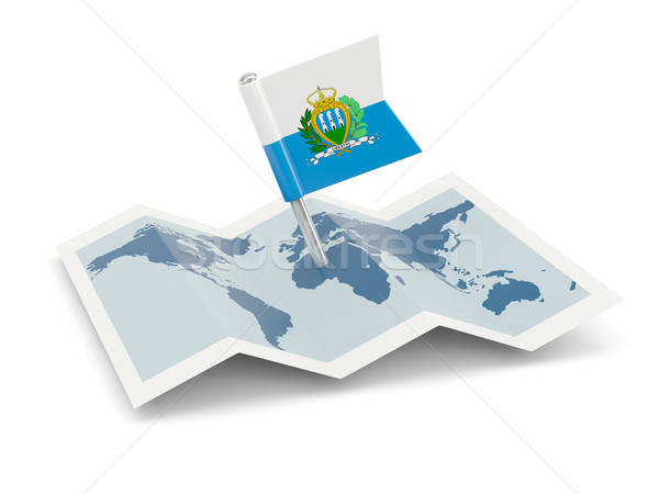 карта флаг Сан-Марино изолированный белый Сток-фото © MikhailMishchenko