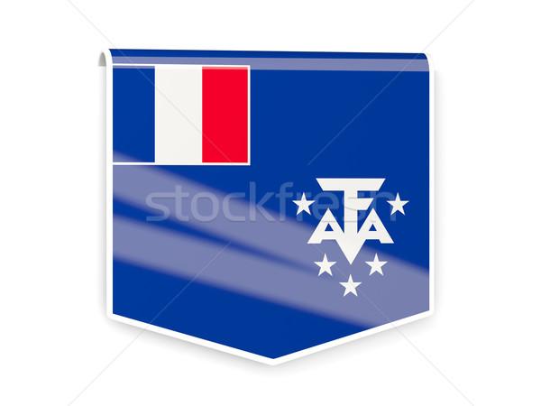 Zászló címke francia déli izolált fehér Stock fotó © MikhailMishchenko