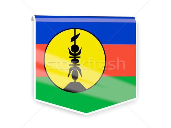 Flag label of new caledonia Stock photo © MikhailMishchenko