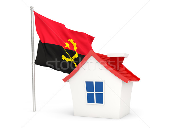 House with flag of angola Stock photo © MikhailMishchenko