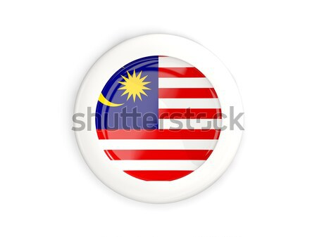 ícone bandeira Malásia isolado branco viajar Foto stock © MikhailMishchenko