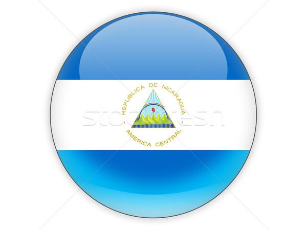 Ikon zászló Nicaragua izolált fehér utazás Stock fotó © MikhailMishchenko