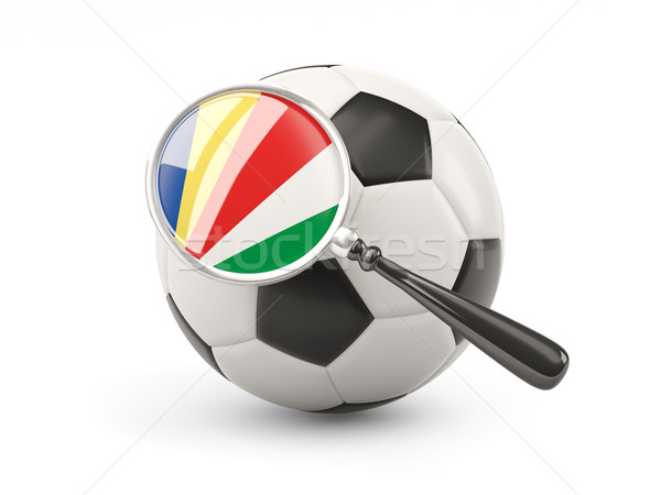 Football with magnified flag of seychelles Stock photo © MikhailMishchenko