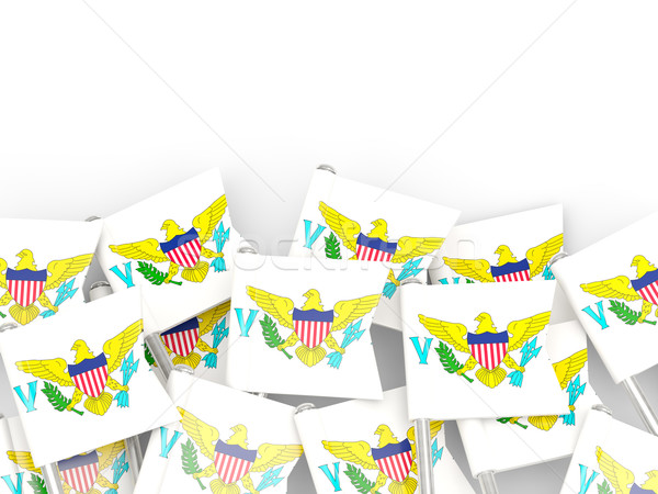 Bandiera pin Virgin Islands isolato bianco sfondo Foto d'archivio © MikhailMishchenko
