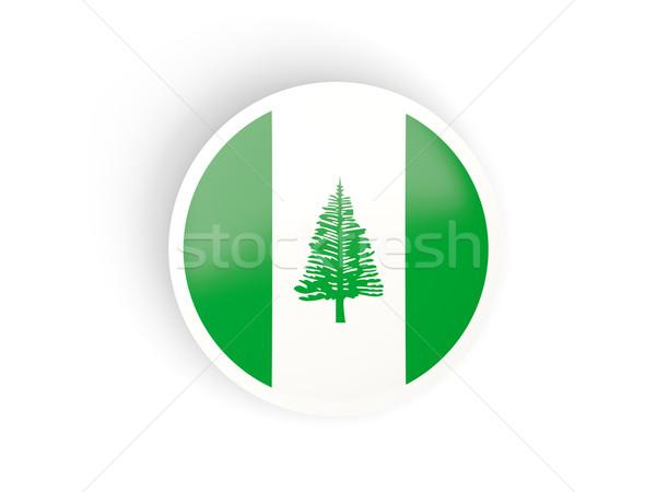 Round sticker with flag of norfolk island Stock photo © MikhailMishchenko