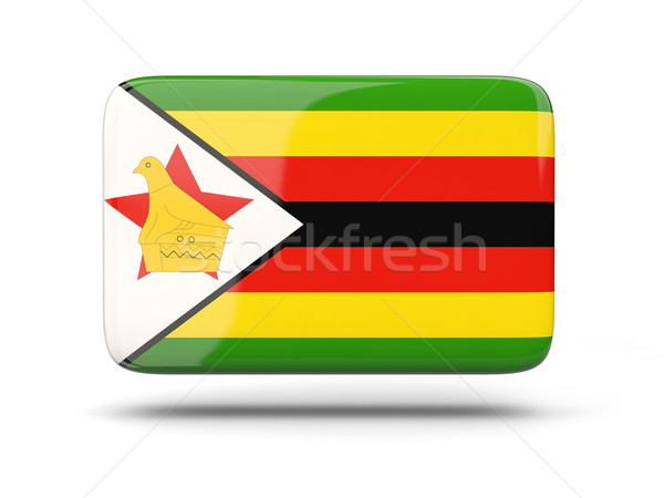 Square icon with flag of zimbabwe Stock photo © MikhailMishchenko