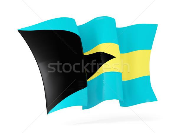 Bandeira Bahamas ilustração 3d isolado branco Foto stock © MikhailMishchenko