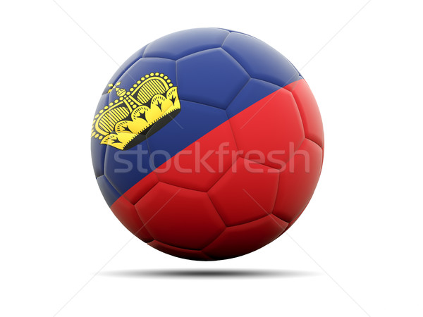 Football with flag of liechtenstein Stock photo © MikhailMishchenko