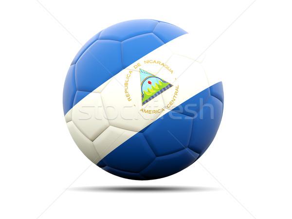 Futball zászló Nicaragua 3d illusztráció futball sport Stock fotó © MikhailMishchenko