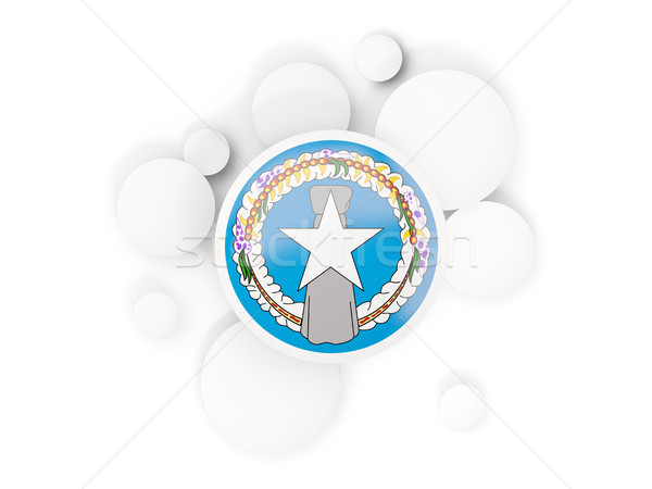 Vlag noordelijk eilanden cirkels patroon geïsoleerd Stockfoto © MikhailMishchenko