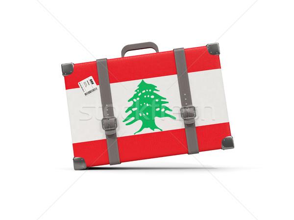 Камера флаг Ливан чемодан изолированный белый Сток-фото © MikhailMishchenko
