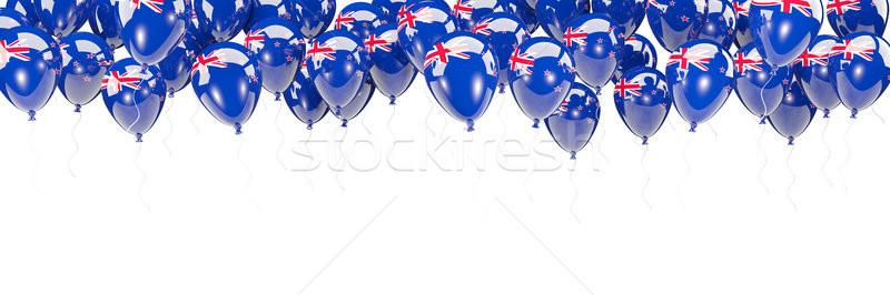 Balões quadro bandeira Nova Zelândia isolado branco Foto stock © MikhailMishchenko