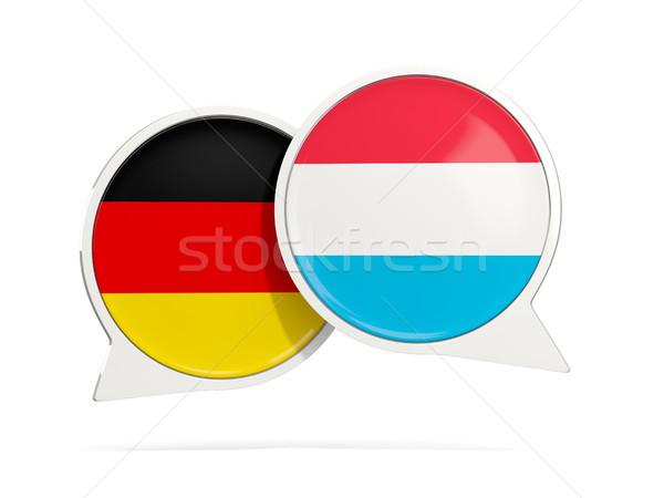 Chat buborékok Németország Luxemburg izolált fehér Stock fotó © MikhailMishchenko