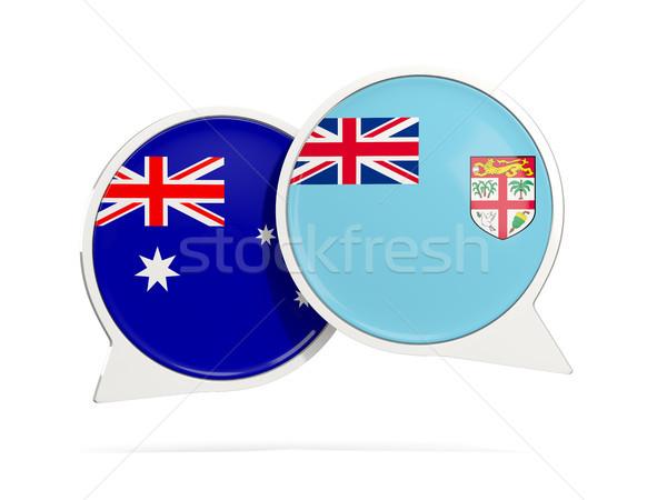 Conversar bubbles Austrália Fiji isolado branco Foto stock © MikhailMishchenko