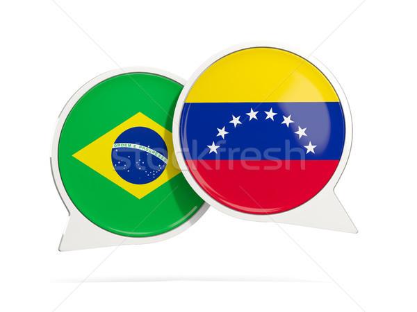 чате пузырьки Бразилия Венесуэла изолированный белый Сток-фото © MikhailMishchenko