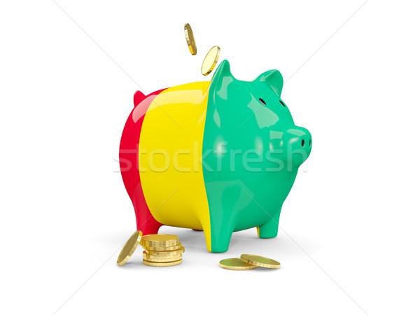 Yağ kumbara Gine para yalıtılmış beyaz Stok fotoğraf © MikhailMishchenko