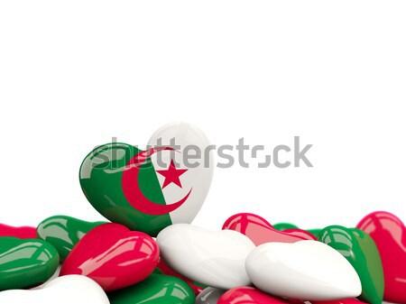Szív zászló Madagaszkár felső szívek izolált Stock fotó © MikhailMishchenko