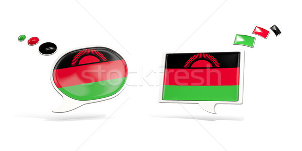 Two chat icons with flag of malawi Stock photo © MikhailMishchenko