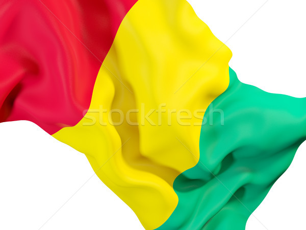 Vlag Guinea 3d illustration reizen Stockfoto © MikhailMishchenko