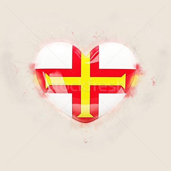 Heart with flag of guernsey Stock photo © MikhailMishchenko