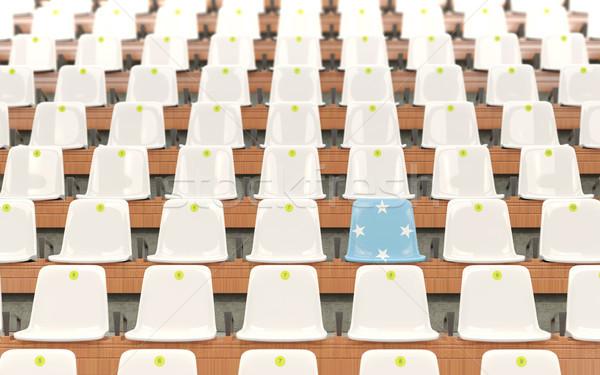 スタジアム 座席 フラグ ミクロネシア 白 ストックフォト © MikhailMishchenko