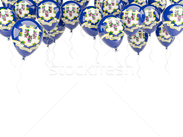 Balloons frame with flag of connecticut. United states local fla Stock photo © MikhailMishchenko