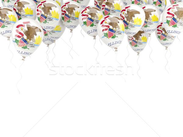 Balões quadro bandeira Illinois Estados Unidos local Foto stock © MikhailMishchenko