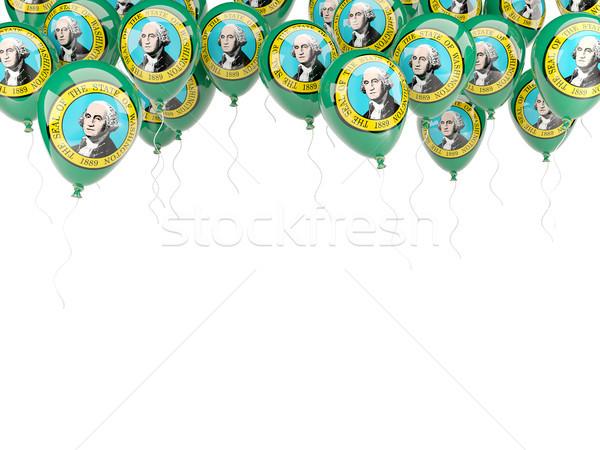 Balloons frame with flag of washington. United states local flag Stock photo © MikhailMishchenko