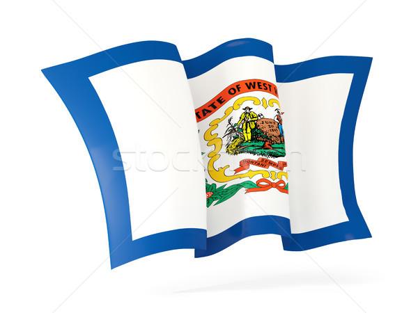 West Virginia vlag icon Verenigde Staten Stockfoto © MikhailMishchenko