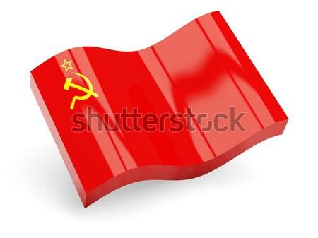 3D zászló Mongólia izolált fehér utazás Stock fotó © MikhailMishchenko