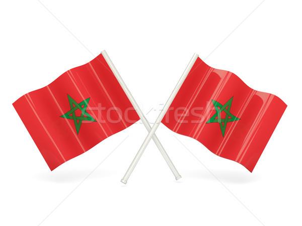 Zászló Marokkó hullám tő szalag Hongkong Stock fotó © MikhailMishchenko