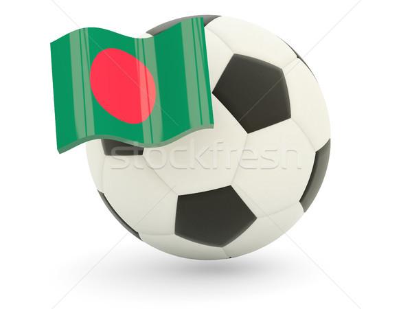 Futebol bandeira Bangladesh isolado branco esportes Foto stock © MikhailMishchenko