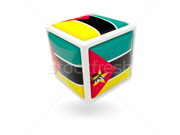 Bandiera Mozambico cubo icona isolato bianco Foto d'archivio © MikhailMishchenko