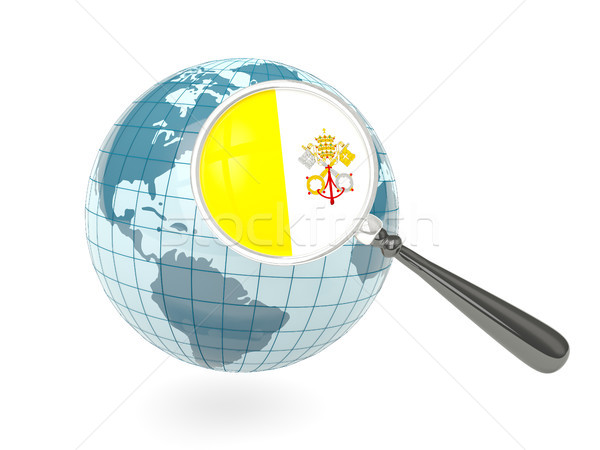 Stok fotoğraf: Bayrak · Vatikan · mavi · dünya · yalıtılmış