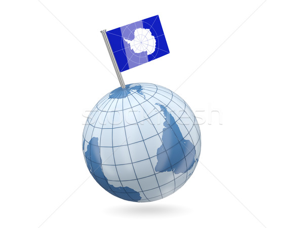 Globe with flag of antarctica Stock photo © MikhailMishchenko