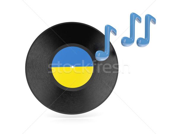 Vinyl disk with flag of ukraine Stock photo © MikhailMishchenko