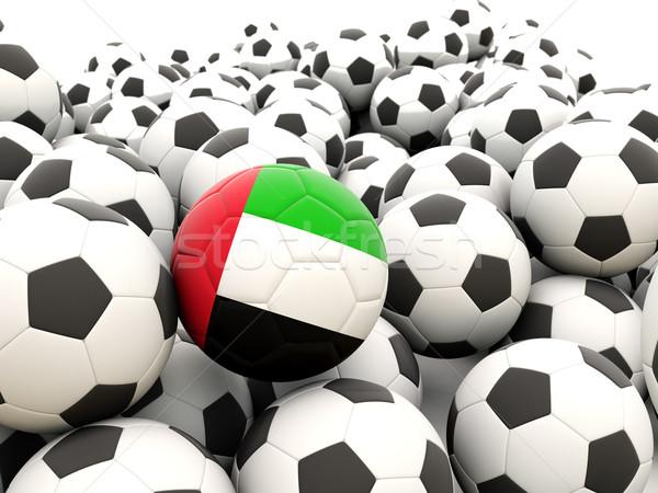 Futbol bayrak Birleşik Arap Emirlikleri düzenli yaz Stok fotoğraf © MikhailMishchenko