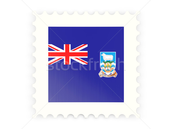 Postage stamp icon of falkland islands Stock photo © MikhailMishchenko