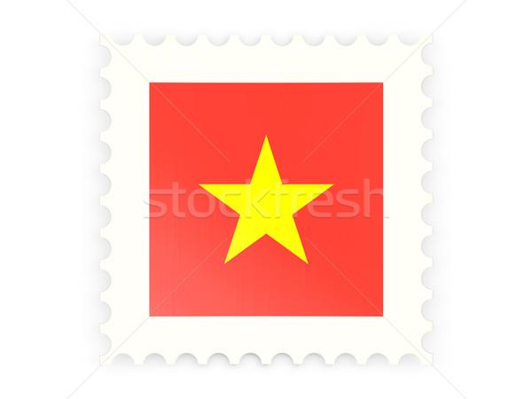 Icône Viêt-Nam isolé blanche signe Photo stock © MikhailMishchenko