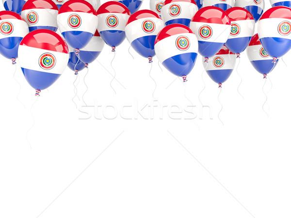 Balloon frame with flag of paraguay Stock photo © MikhailMishchenko
