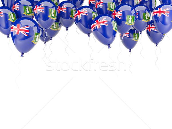 Léggömb keret zászló brit Virgin-szigetek izolált Stock fotó © MikhailMishchenko