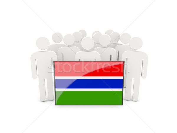 People with flag of gambia Stock photo © MikhailMishchenko