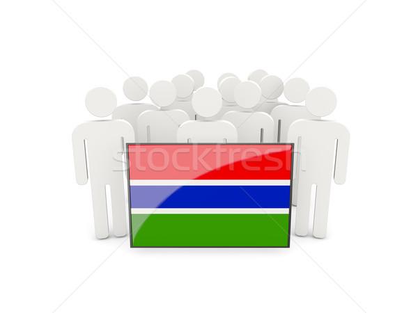 人 フラグ ガンビア 孤立した 白 群衆 ストックフォト © MikhailMishchenko