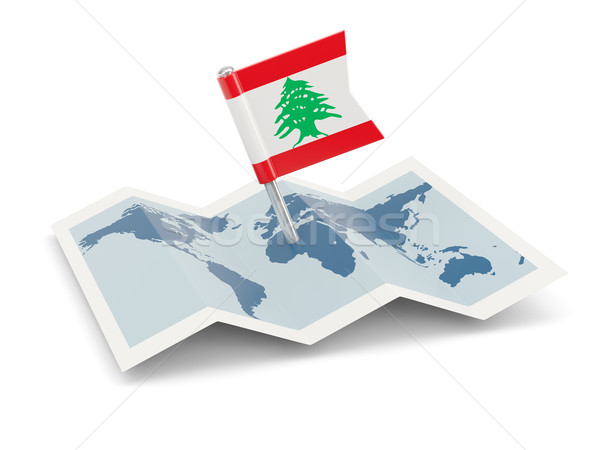 карта флаг Ливан изолированный белый Сток-фото © MikhailMishchenko